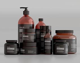 Skincare Cosmetics Set medicine 3D