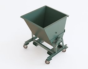 3D Industrial trash container 02