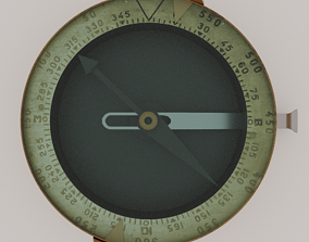 Old Compass 3D model rigged