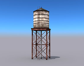 water 3D model game-ready Water Tower
