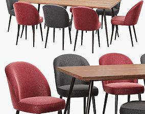 3D Dutchbone Alagon table and Barbara chair