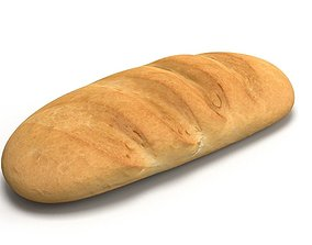 low-poly 3D Scan Bread