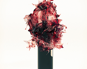 Wine Splash Bottle 3 wine 3D