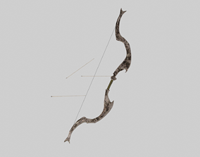 Old Bow and Arrow 3D model