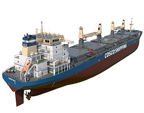 3D model Bulk carrier Cosco hquality
