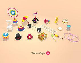 3D asset Circus Props