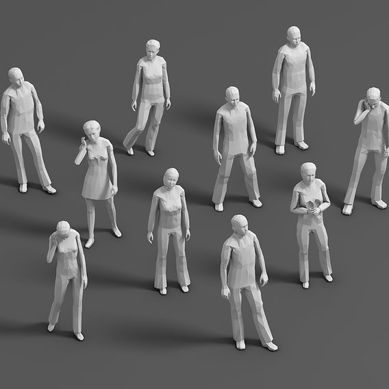 lowpoly people 01