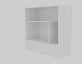3D model Low Poly Cabinet GameReady