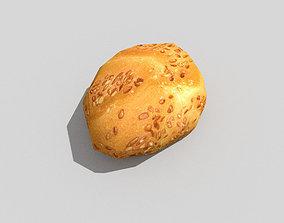 3D model low poly little bread