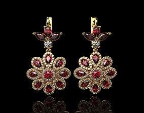 Multi stone earrings 3D printable model