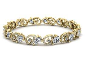 Diamond Jewelry Bangle Bracelet 3D print model