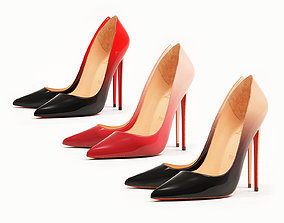 Christian Louboutin So Kate 120mm Ombre High 3D model