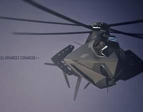 F35 C0MANCHE C0NCEPT 3D asset