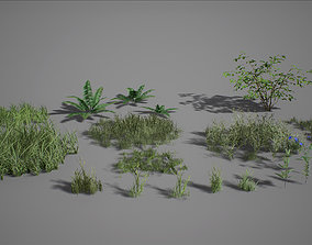 3D model VR / AR ready UE4 - Forest Foliage