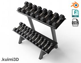 3D model Gym Dumbell Set 005