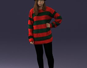 The girl in the image of Freddy Krueger 0317 3D Print