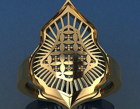 diamond-ring 3D printable model Ring 22