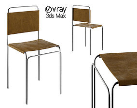 3D model Chair modern with leather for kitchen