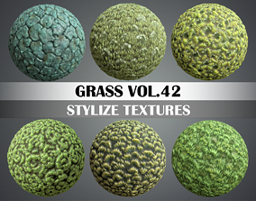 3D model Stylized Grass Vol 42 - Hand Painted
