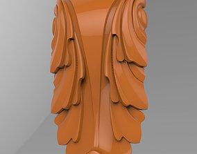 details Carved CNC 3D print model capitel