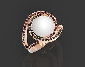 Ring pearl gold 3D printable model