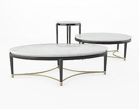 3D model Minotti Collezioni OSCAR MARBLE TOP COFFEE TABLE