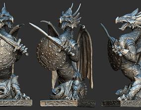 3D Fantasy dragon model magical