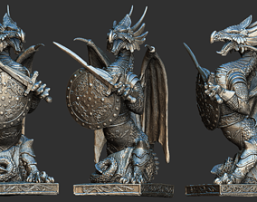 3D Fantasy dragon model magical