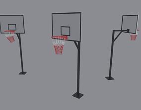 3D model low-poly Basketball Backboard
