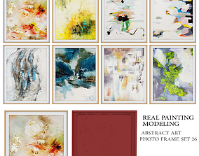 photo wall frame set - real painting 3D asset