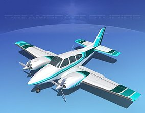 Beechcraft B55 Baron V13 3D model