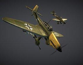 WW2 German Dive-Bomber JU87 Stuka 3D asset