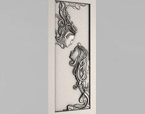 Carved door architectural 3D printable model