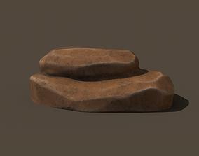 3D asset realtime Stylized rock