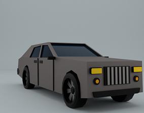 Low-Poly car prototype Rolls-Royce game VR / AR ready 3