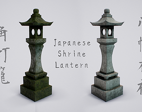 3D asset Japanese Shrine Lantern - 4K PBR Textures