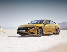 3D model Modern family sedan unbranded