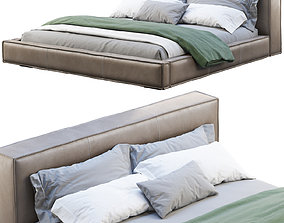 3D model Queen Loft Leather Bed 2