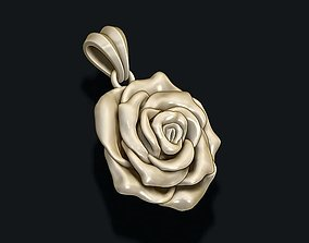 bouquet 3D printable model Rose pendant
