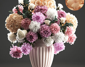 Bouquet of spring flowers 3D model