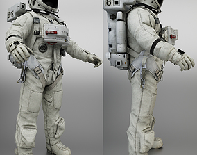 3D model game-ready Space Suit