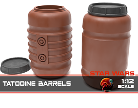 Tantooine Barrels 1-12 scale 3D print model