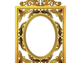 3D carved frame gallery wall-mirror