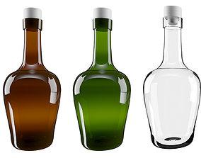 3D asset game-ready Glass bottle pint