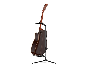 3D Yamaha Acoustic Guitar A5R ARE with Stands