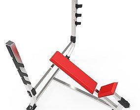 3D asset game-ready Leg Bench