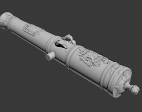 Ancient cannon Warship 3D print model
