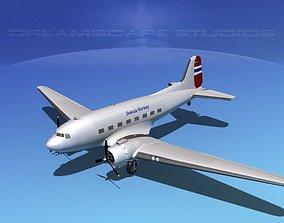 3D Douglas DC-3 Dakota Norway