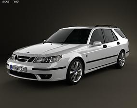 3D model Saab 9-5 Aero wagon 2005