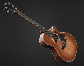 3D model Dirty Damaged Acoustic Guitar